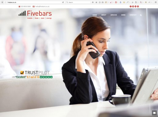 Fivebars Mobile Website